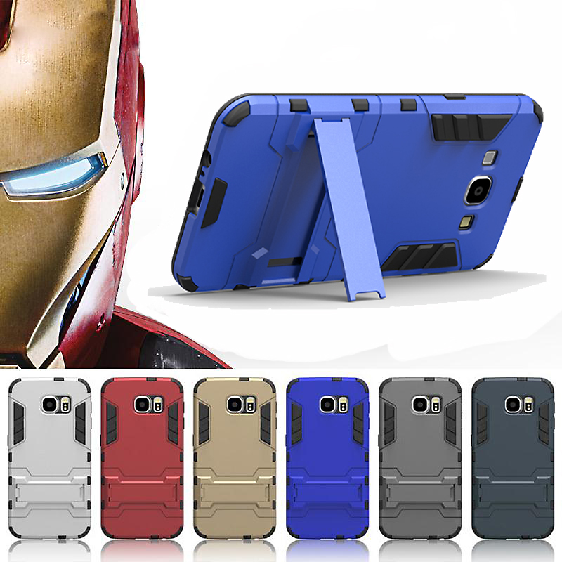For Samsung Galaxy J3 J5 J7 A7 A8 A9 On5/ON7 Case Cover Hybrid TPU+PC Iron Man Armor Shield Shell Protector Back Bag