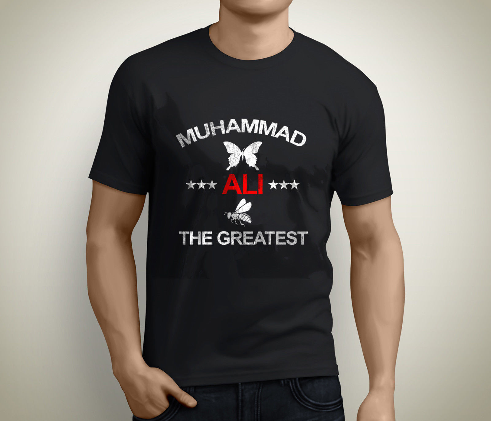 Muhammed Ali Cassius Clay, Greatest 5XL Boxinger Legend Siyah T-Shirt Beden S
